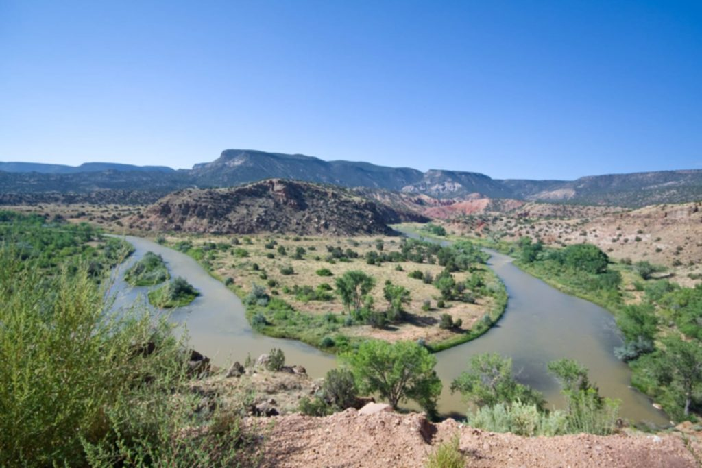 View of Jemez Mountains and River on Scenic Drives in New Mexico