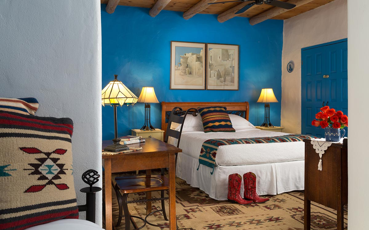 The Perfect Guest room in which to relax and unwind near Ojo Caliente Mineral Hot Springs