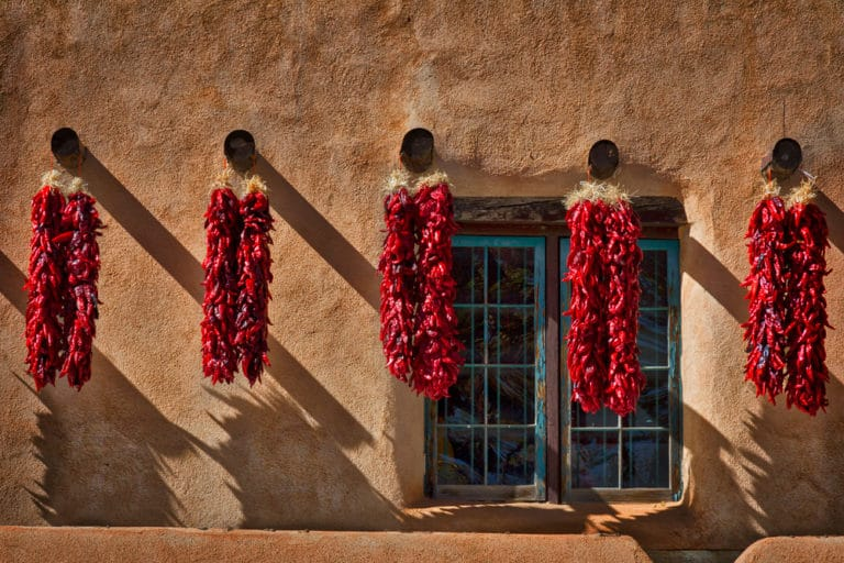 Red Chile's and beautiful adobe architecture combine at the Rancho de Chimayó - one of the best restaurants in New Mexico