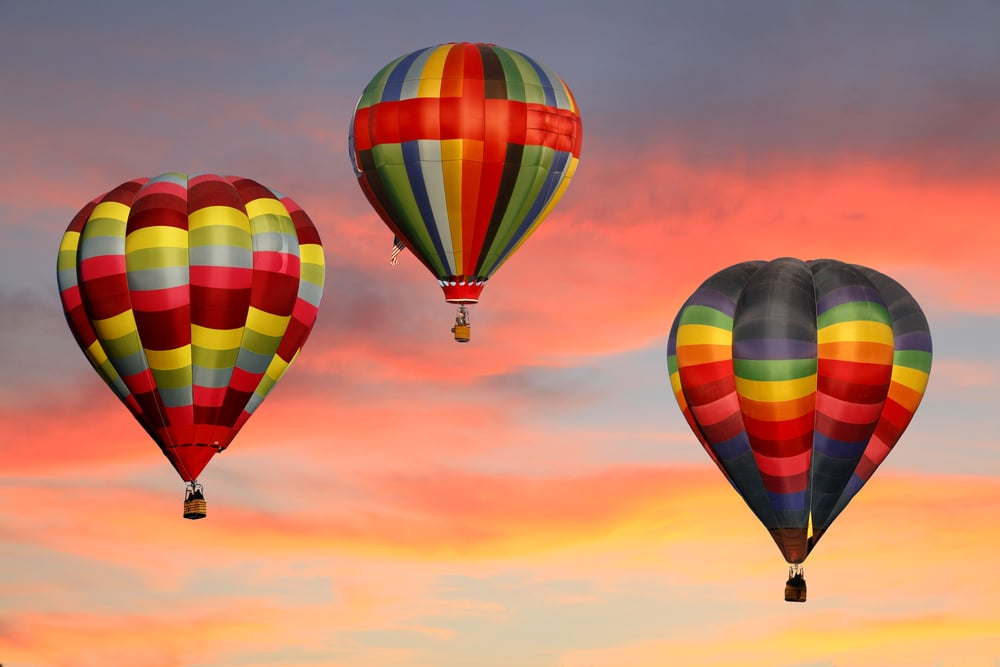 Take a hot air balloon ride, one of the best things to do in New Mexico each fall