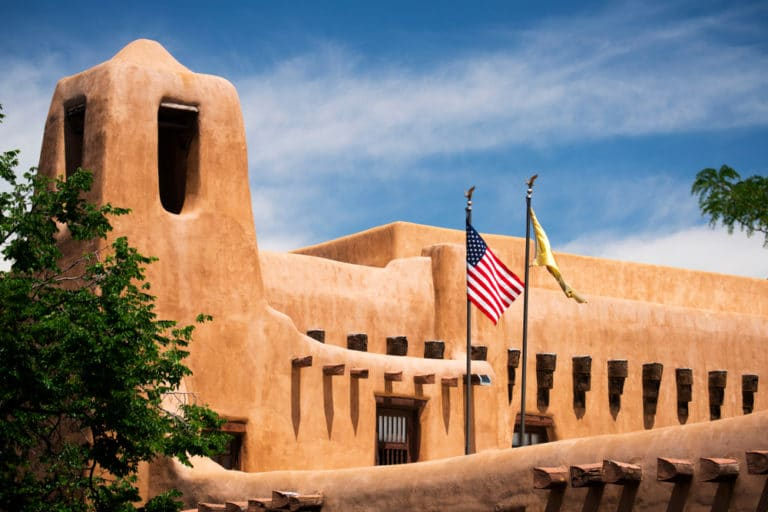 The New Mexico Museum of Art is one of the top Santa Fe Musuems to visit this winter
